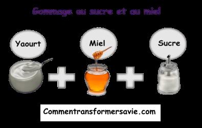 gommage au sucre et au miel
