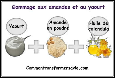 gommage aux amandes et au yaourt