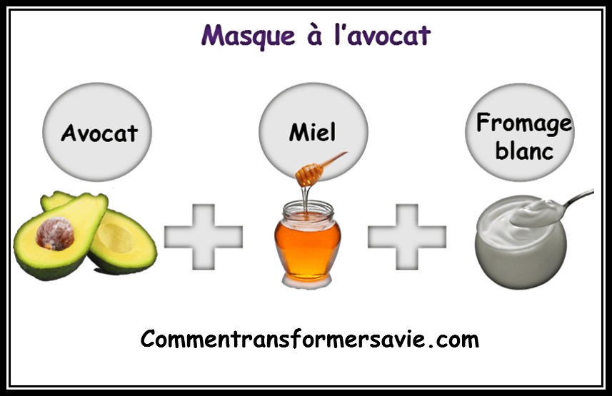Masque à l'avocat