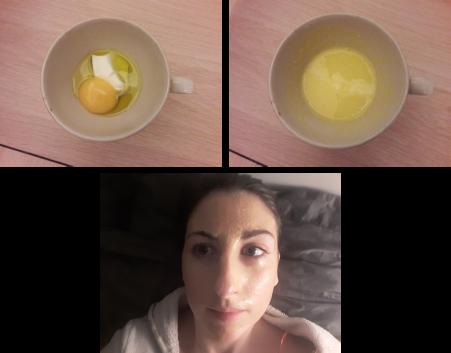Masque à l'olive et au jaune d'oeuf