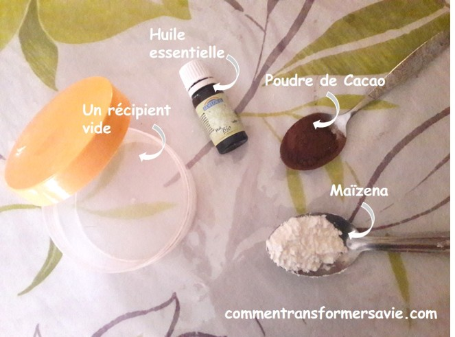 Recette shampoing sec