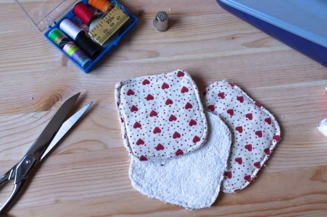 DIY réaliser de jolis coton démaquillants lavables